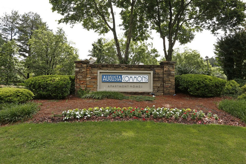 Property Sign at the Augusta Commons Apartments in Marietta, GA