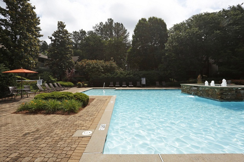 Sparkling Pool at the Augusta Commons Apartments in Marietta, GA