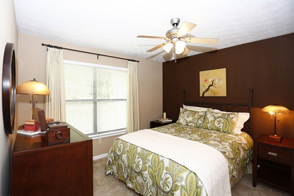 Bedroom at the Augusta Commons Apartments in Marietta, GA