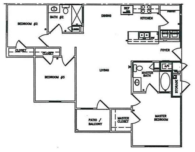 Austin Colorado Creek - Floorplan - 3 Beds 2 Baths