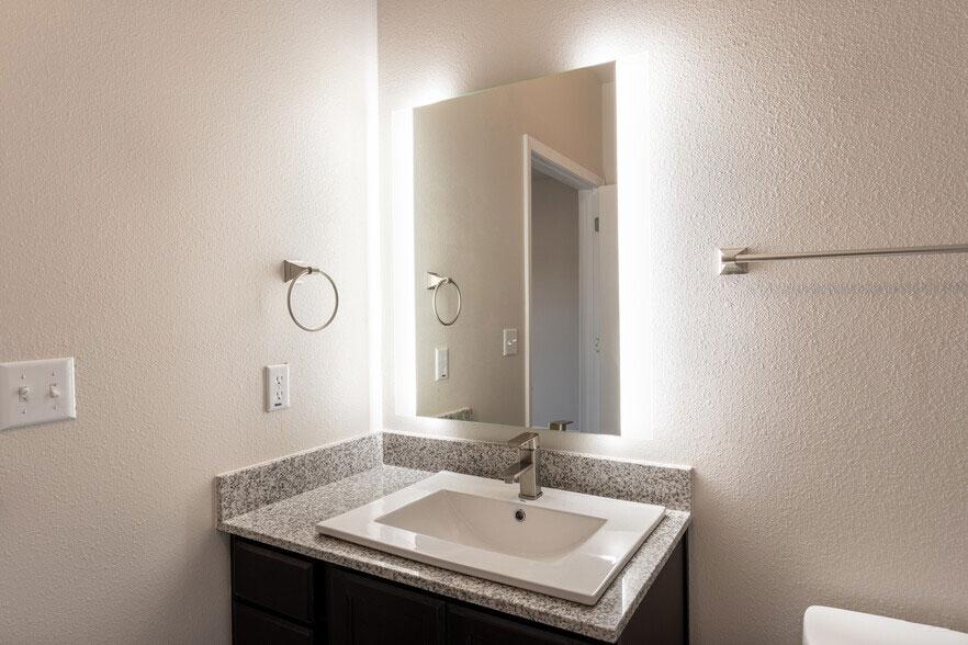 Vanity Mirror at Colorado Creek Apartment Homes in Austin, TX