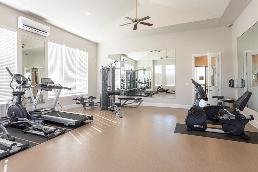 Fully Equipped Fitness Center at Colorado Creek Apartment Homes in Austin, TX