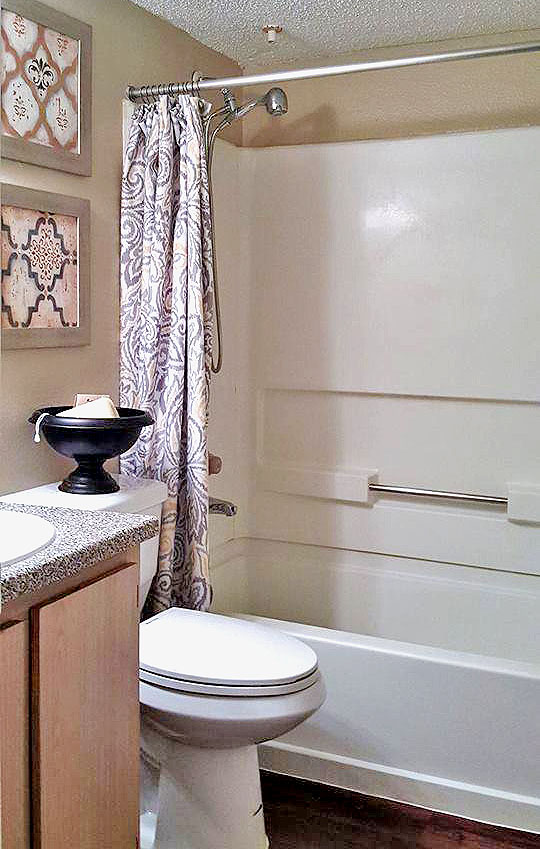Bathtub and Shower at Autumn Chase Apartments in Fort Worth, Texas