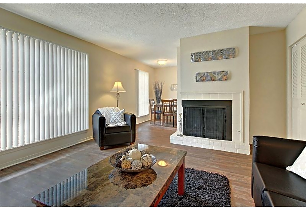 Fireplace at Autumn Woods Apartments in Tulsa, Oklahoma