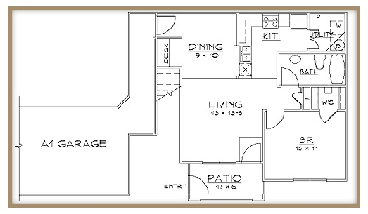 Aventine Apartments - Floorplan - Plan A1