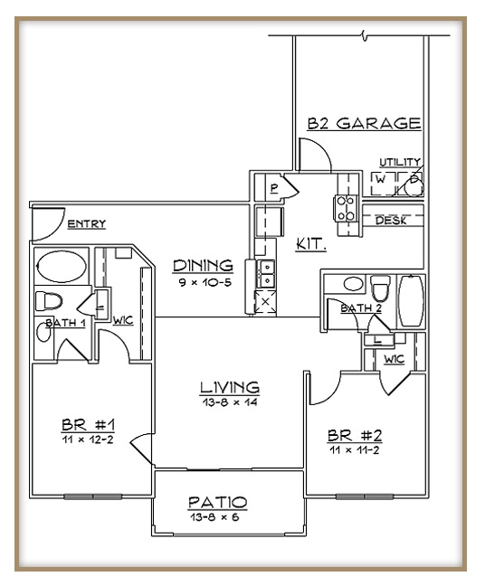 Aventine Apartments - Floorplan - Plan B2