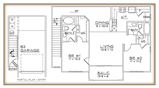 Aventine Apartments - Floorplan - Plan B3