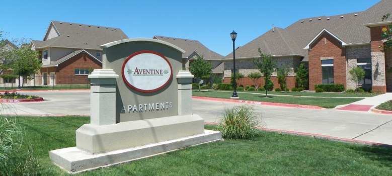 Signage at the Aventine Apartments at Fort Worth, TX