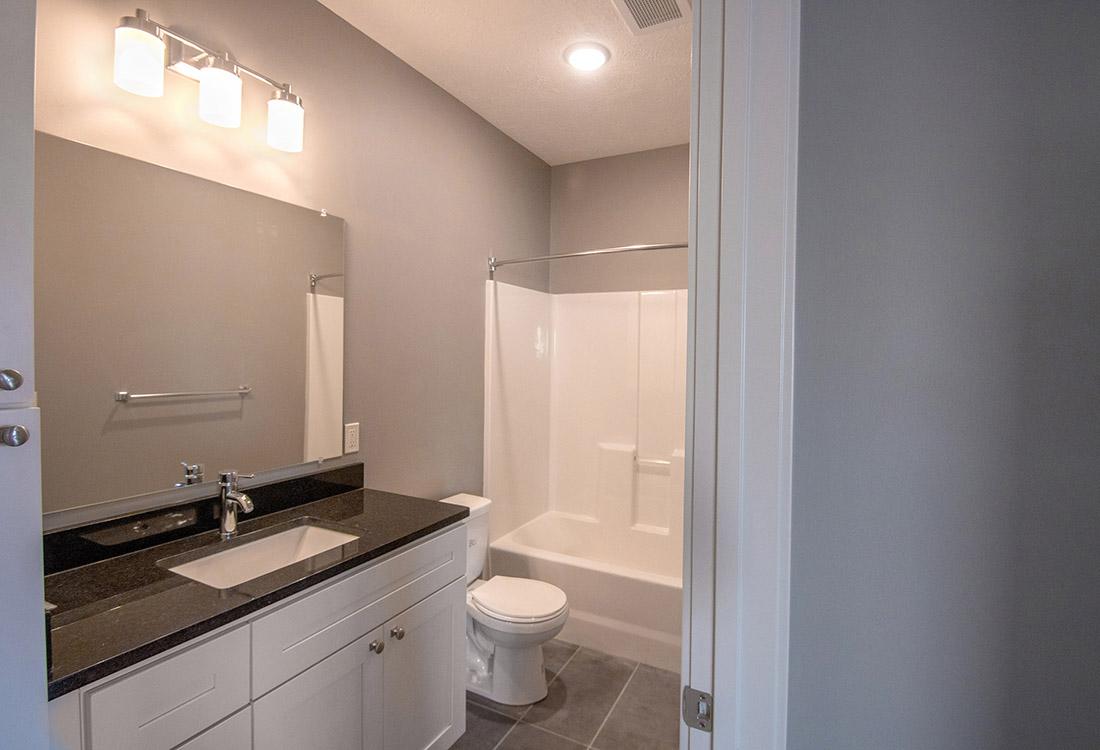 Large Bathroom at Avenue 204 at Royal View Apartments in Gretna, Nebraska