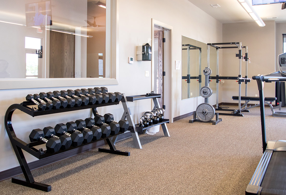 Fully-Equipped Fitness Center at Avenue 204 at Royal View Apartments in Gretna, Nebraska