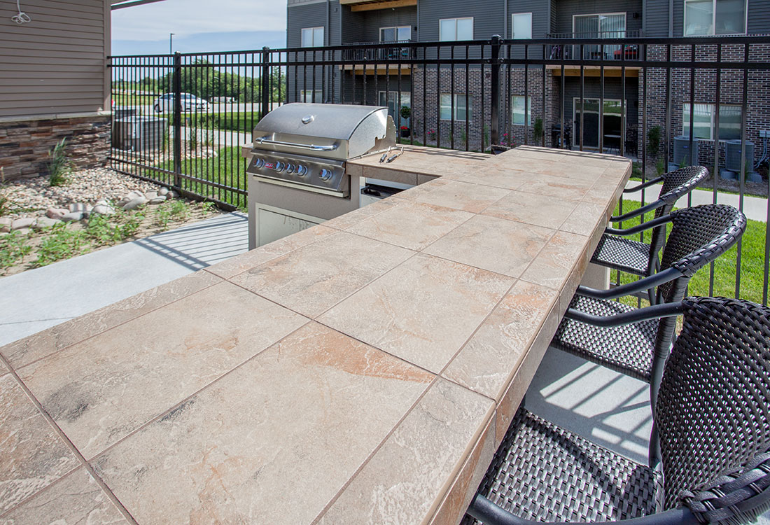 Outdoor Grilling Station at Avenue 204 at Royal View Apartments in Gretna, Nebraska
