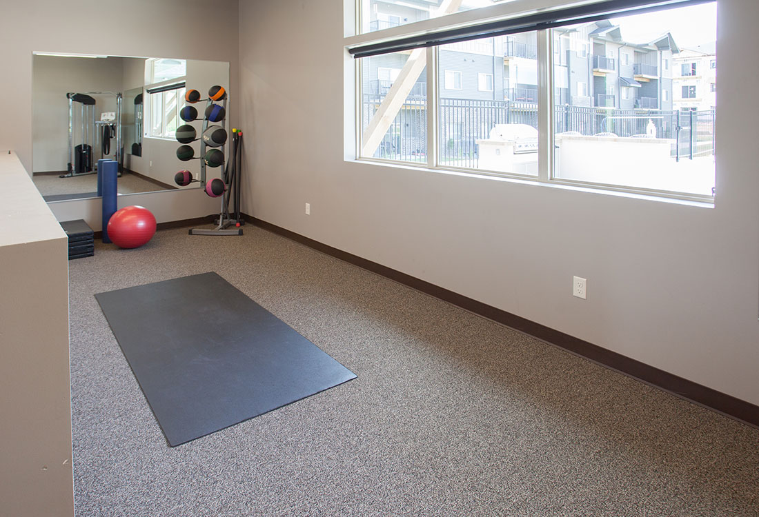 On-Site Fitness Center at Avenue 204 at Royal View Apartments in Gretna, Nebraska