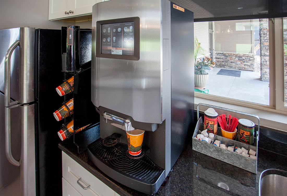 Complimentary Coffee Station at Avenue 204 at Royal View Apartments in Gretna, Nebraska