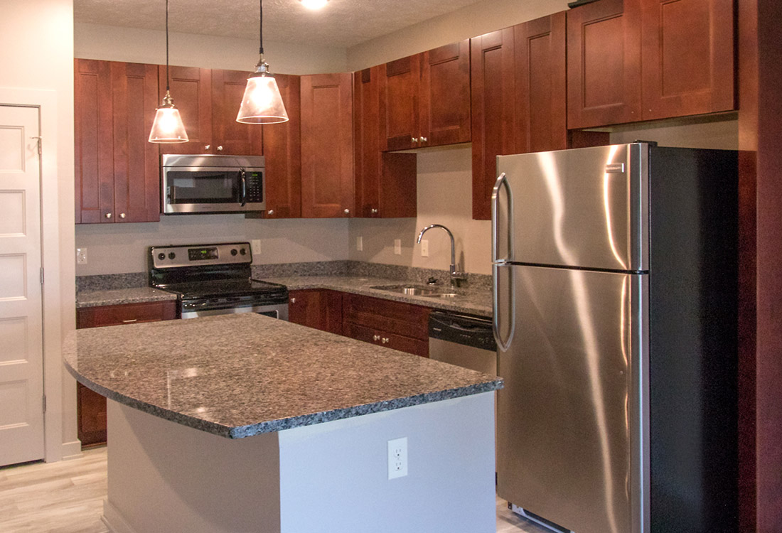 Extended Counter Space at Avenue 204 at Royal View Apartments in Gretna, Nebraska