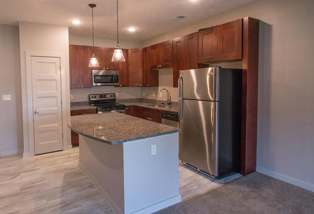 Modern Kitchen at Avenue 204 at Royal View Apartments in Gretna, Nebraska
