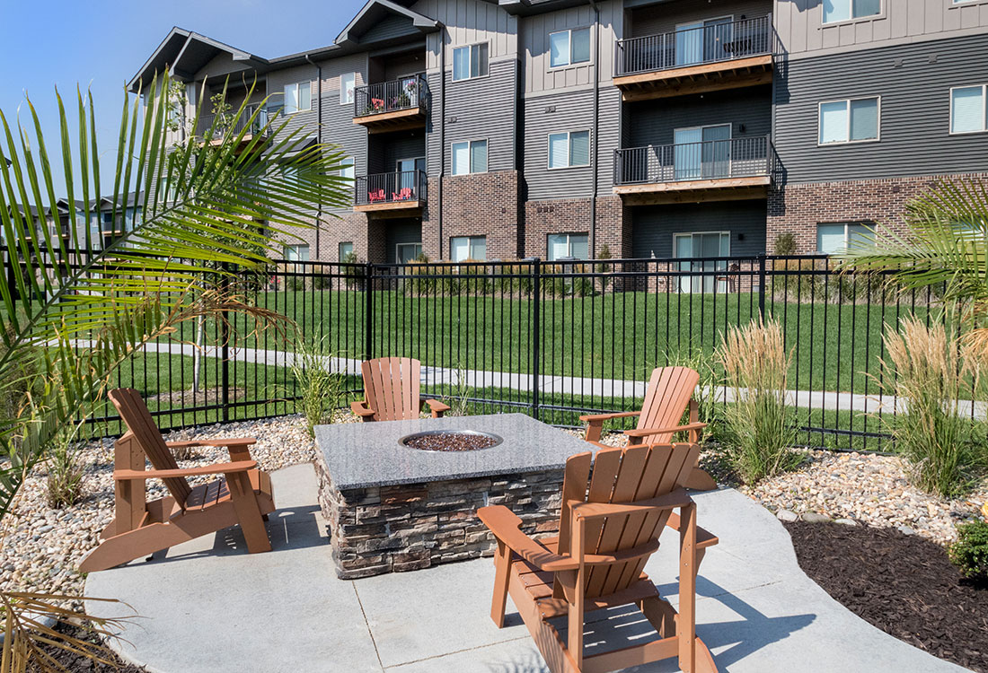 Patio Fire Pit at Avenue 204 at Royal View Apartments in Gretna, Nebraska