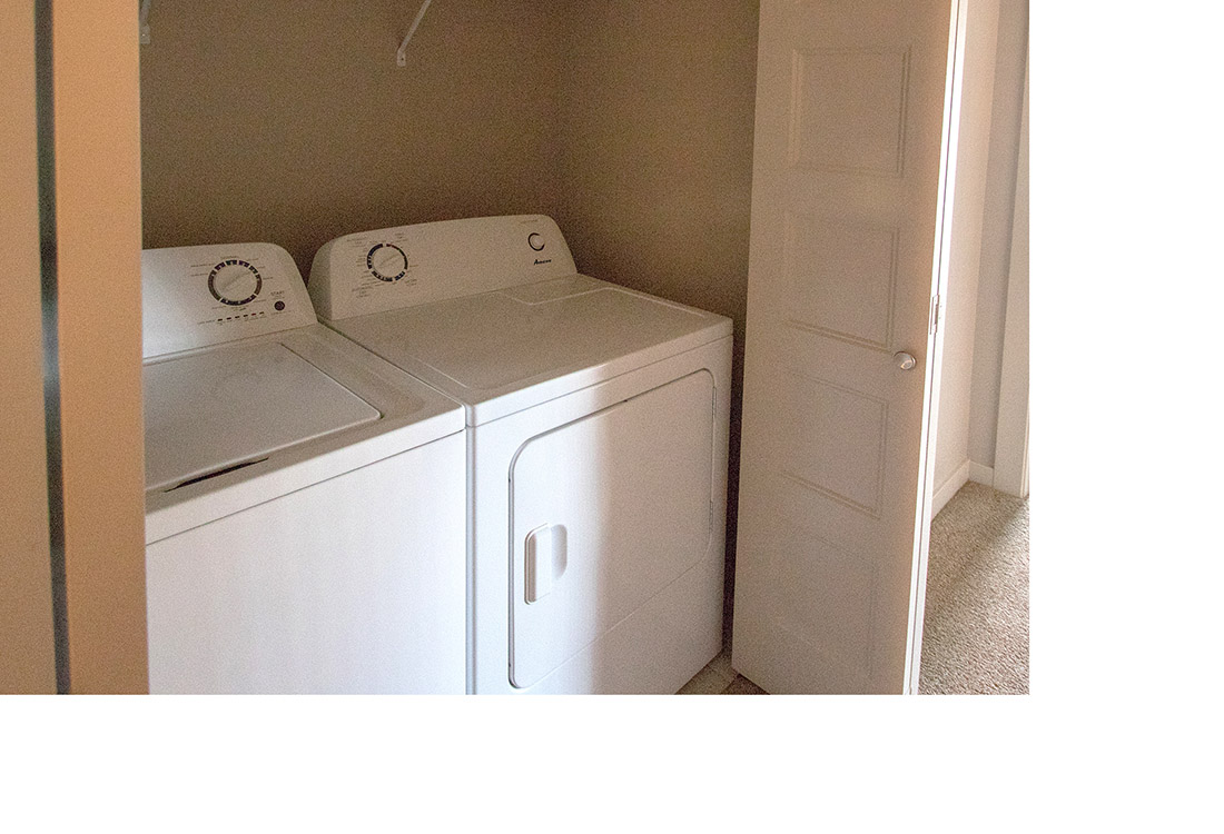 Full Size Washer and Dryer at Avenue 204 at Royal View Apartments in Gretna, Nebraska