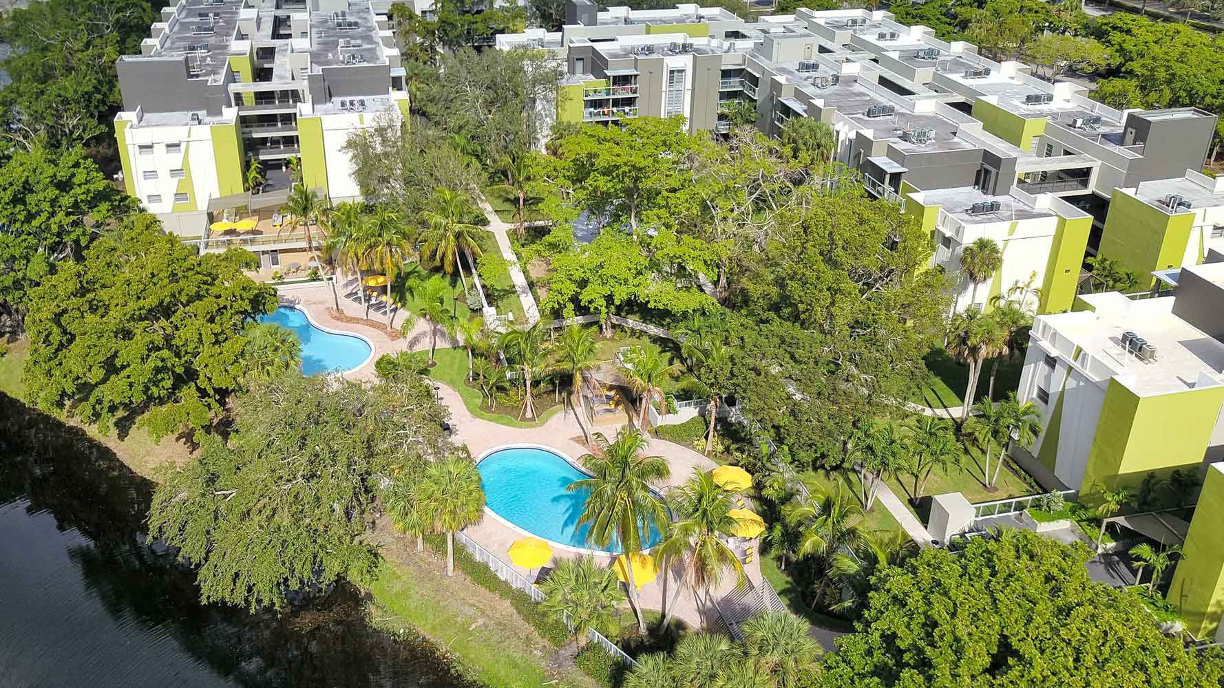 South Florida Landscaping at Nottingham Pine Apartments in Plantation, FL