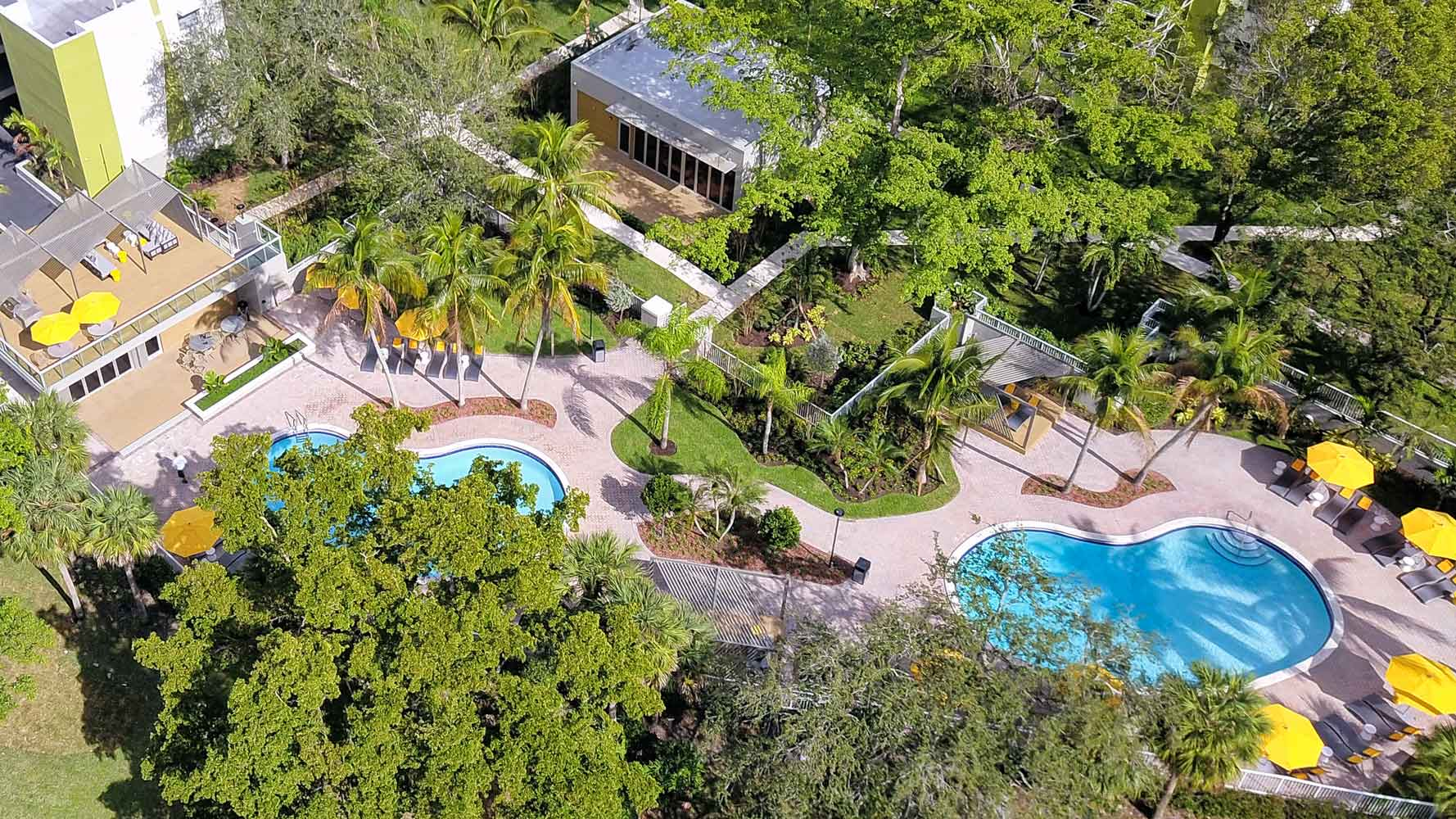 Two Swimming Pools at Nottingham Pine Apartments in Plantation, FL