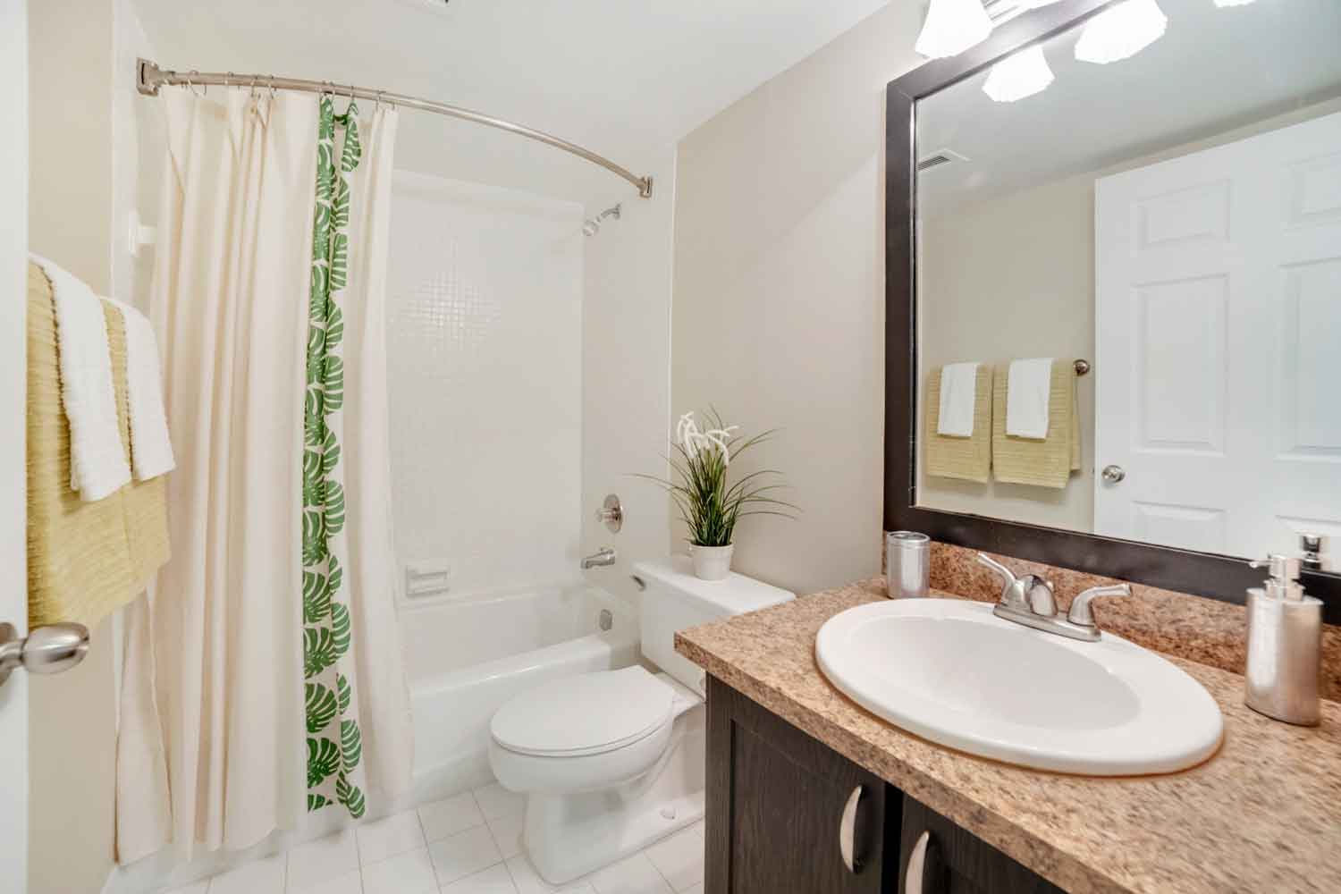 Bathroom with Vanity at Nottingham Pine Apartments in Plantation, FL