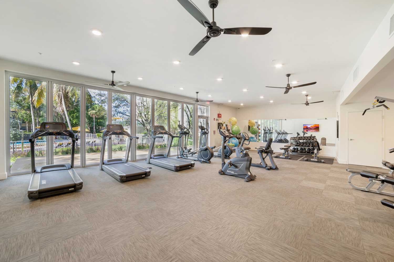 Cardio Equipment at Nottingham Pine Apartments in Plantation, FL