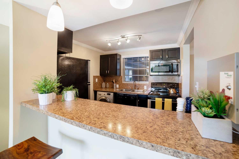 Modern Kitchen at Nottingham Pine Apartments in Plantation, FL