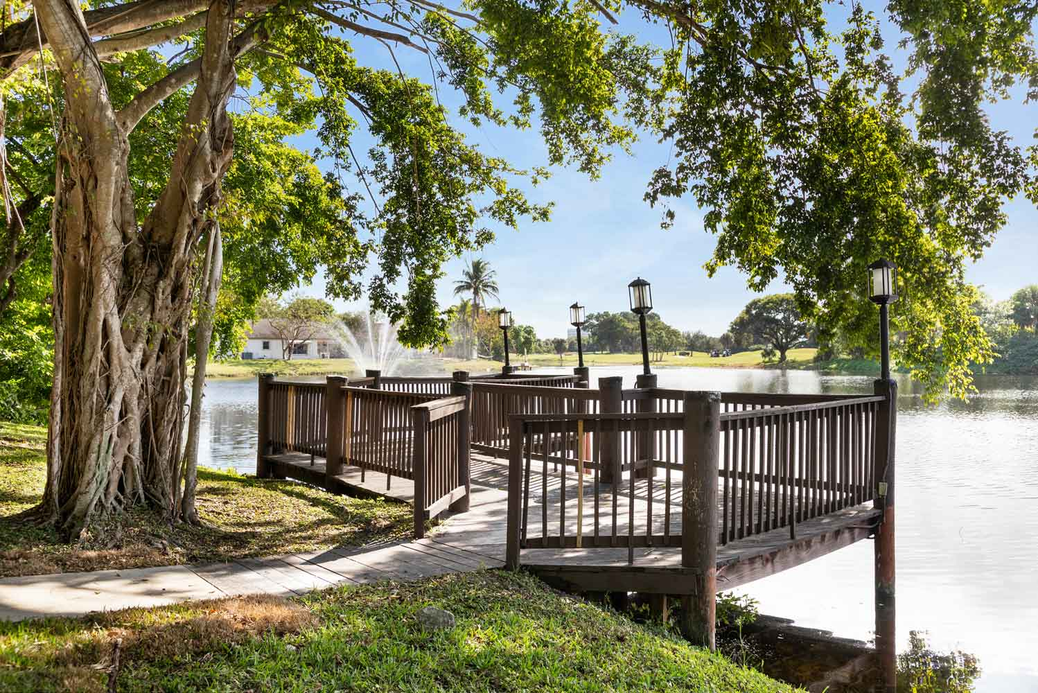 Deck on the Open Water at Nottingham Pine Apartments in Plantation, FL