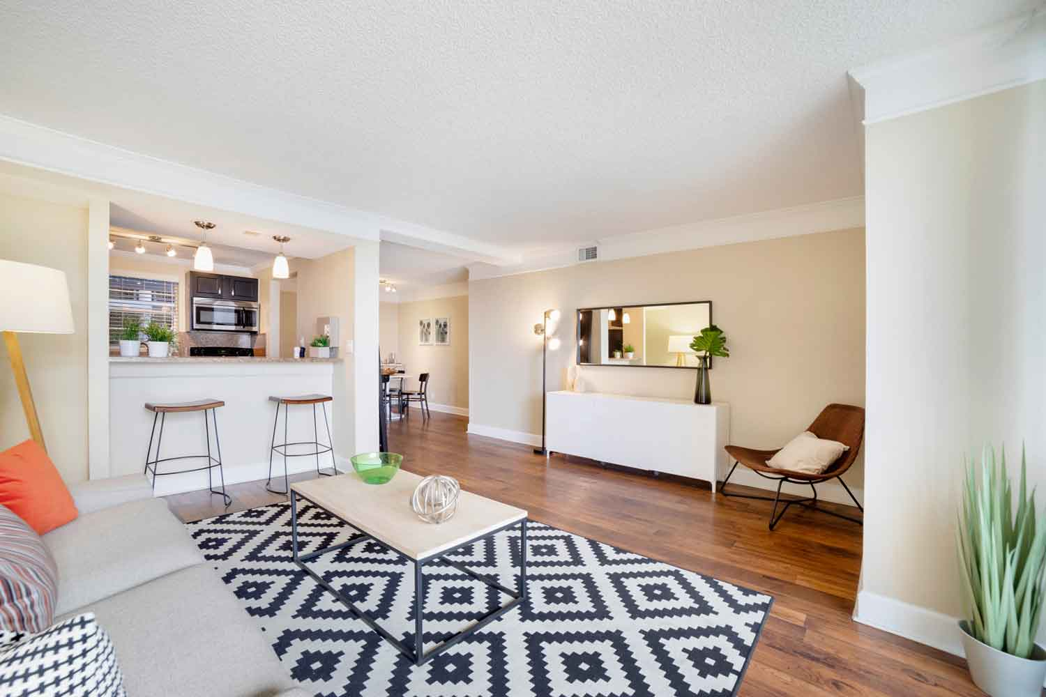 Large and Bright Living Area at Nottingham Pine Apartments in Plantation, FL