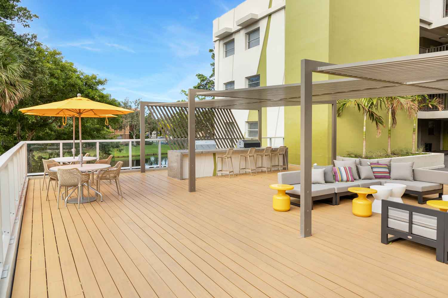 Yoga and Pilates Deck at Nottingham Pine Apartments in Plantation, FL