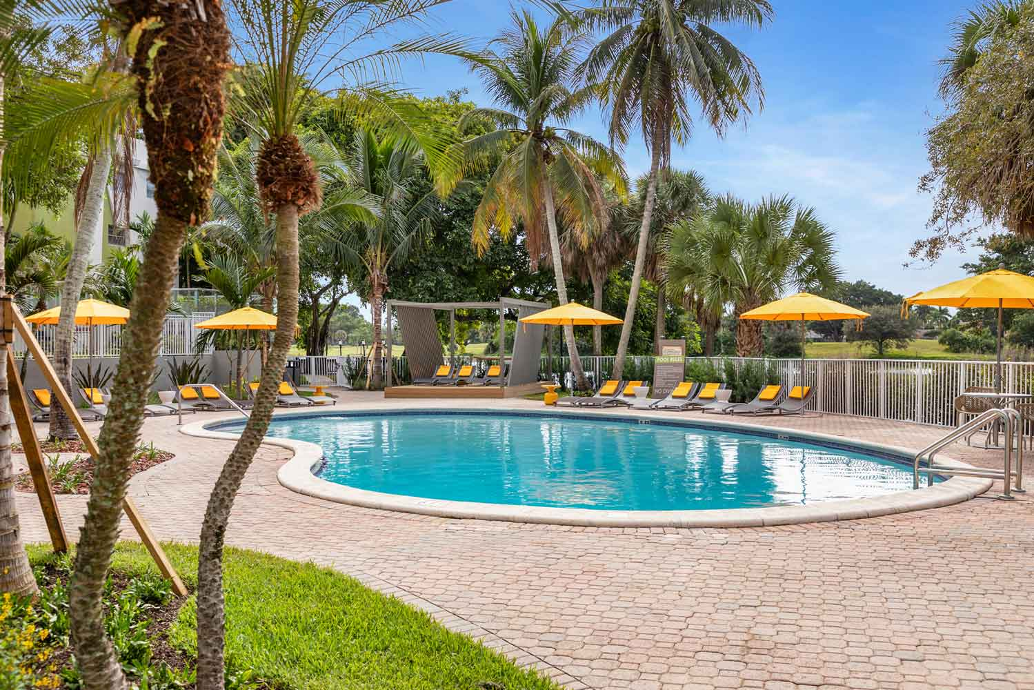Gated Pool Area at Nottingham Pine Apartments in Plantation, FL