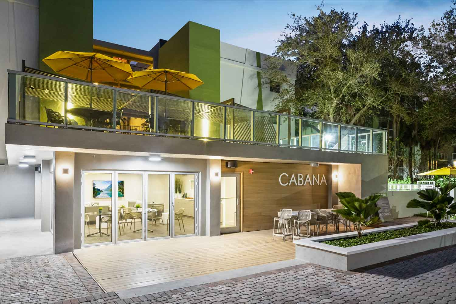 Community Clubhouse with Deck for Socializing at Nottingham Pine Apartments in Plantation, FL