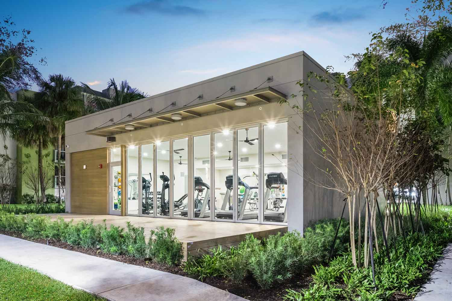 On-Site Gym with Equipment at Nottingham Pine Apartments in Plantation, FL