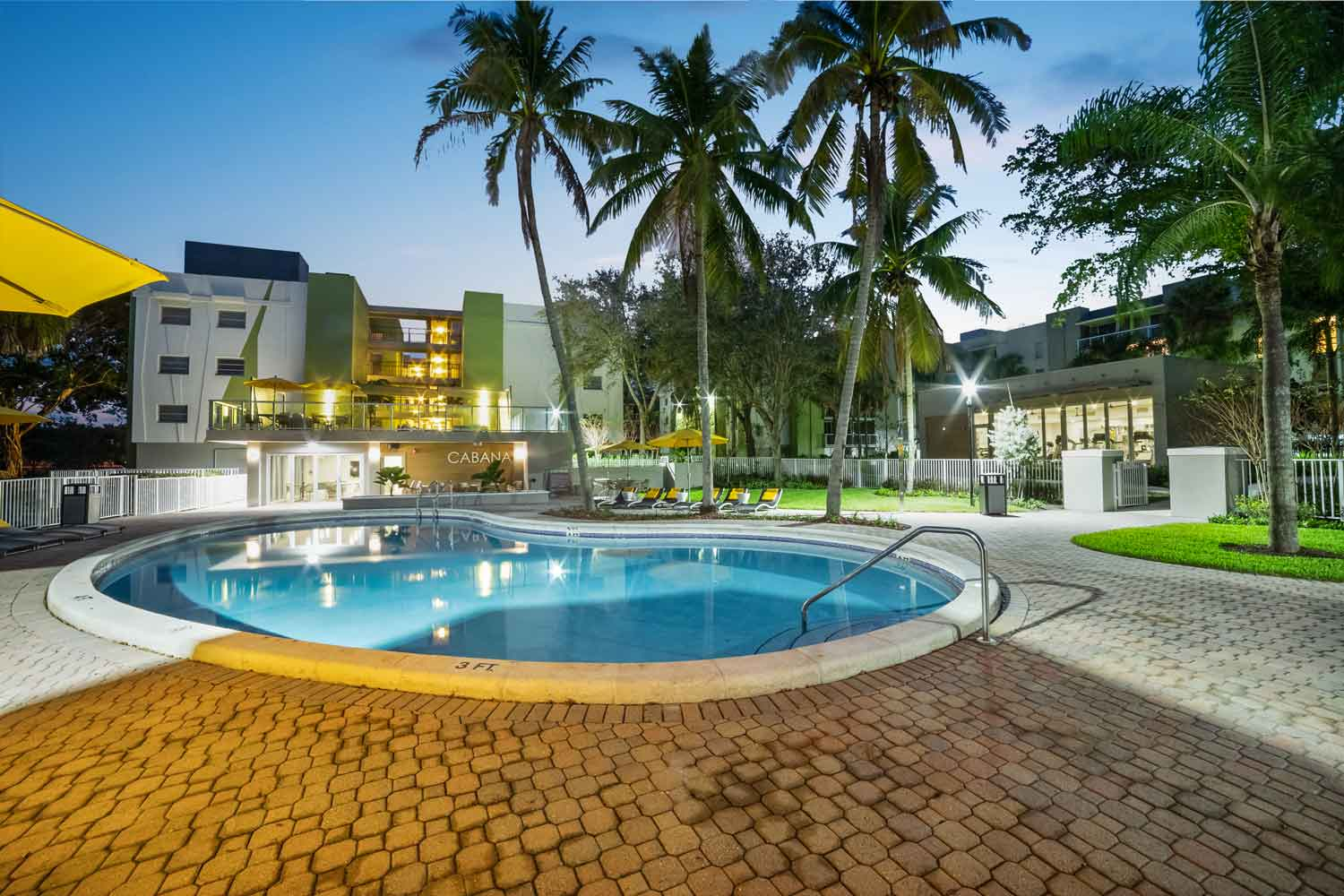 Enhanced Double Swimming Pools at Nottingham Pine Apartments in Plantation, FL