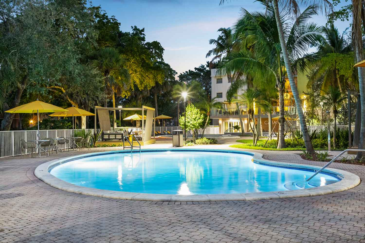 On-Site Swimming Pool at Nottingham Pine Apartments in Plantation, FL