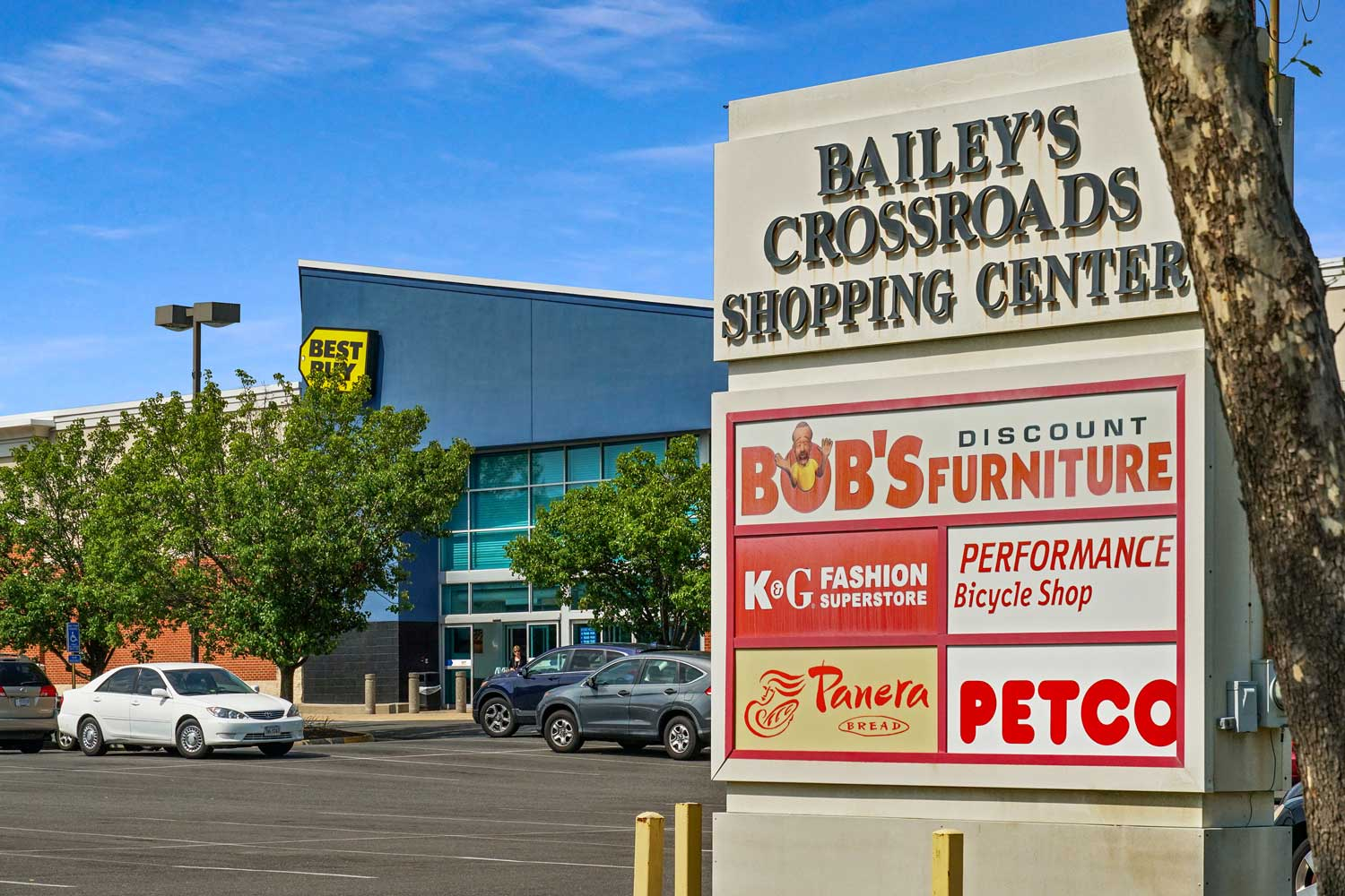 Bailey's Crossroads Shopping Center 5 minutes from Barcroft Plaza Apartments