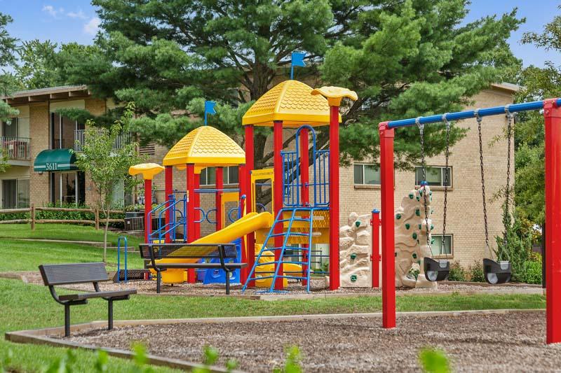 Large play area at Barcroft Plaza Apartments in Falls Church, VA