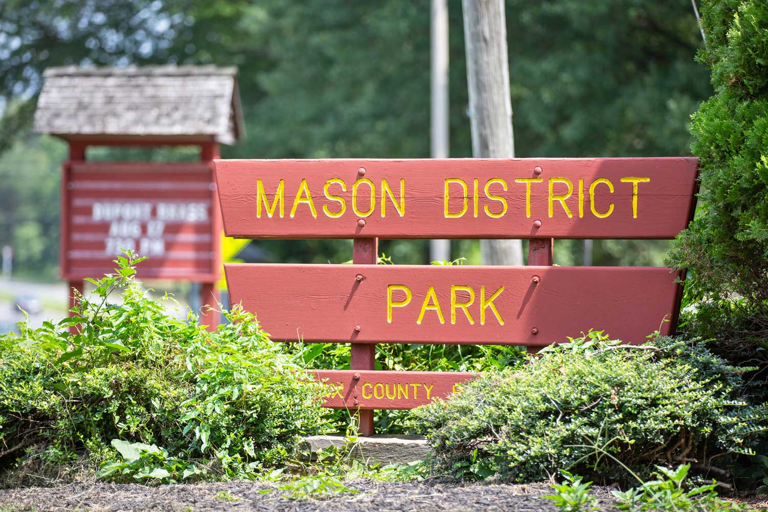 Mason District Park is 5 minutes from Barcroft Plaza Apartments in Falls Church, VA