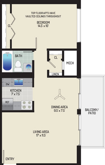 Barcroft Plaza Apartments - Apartment 193605-104-C1