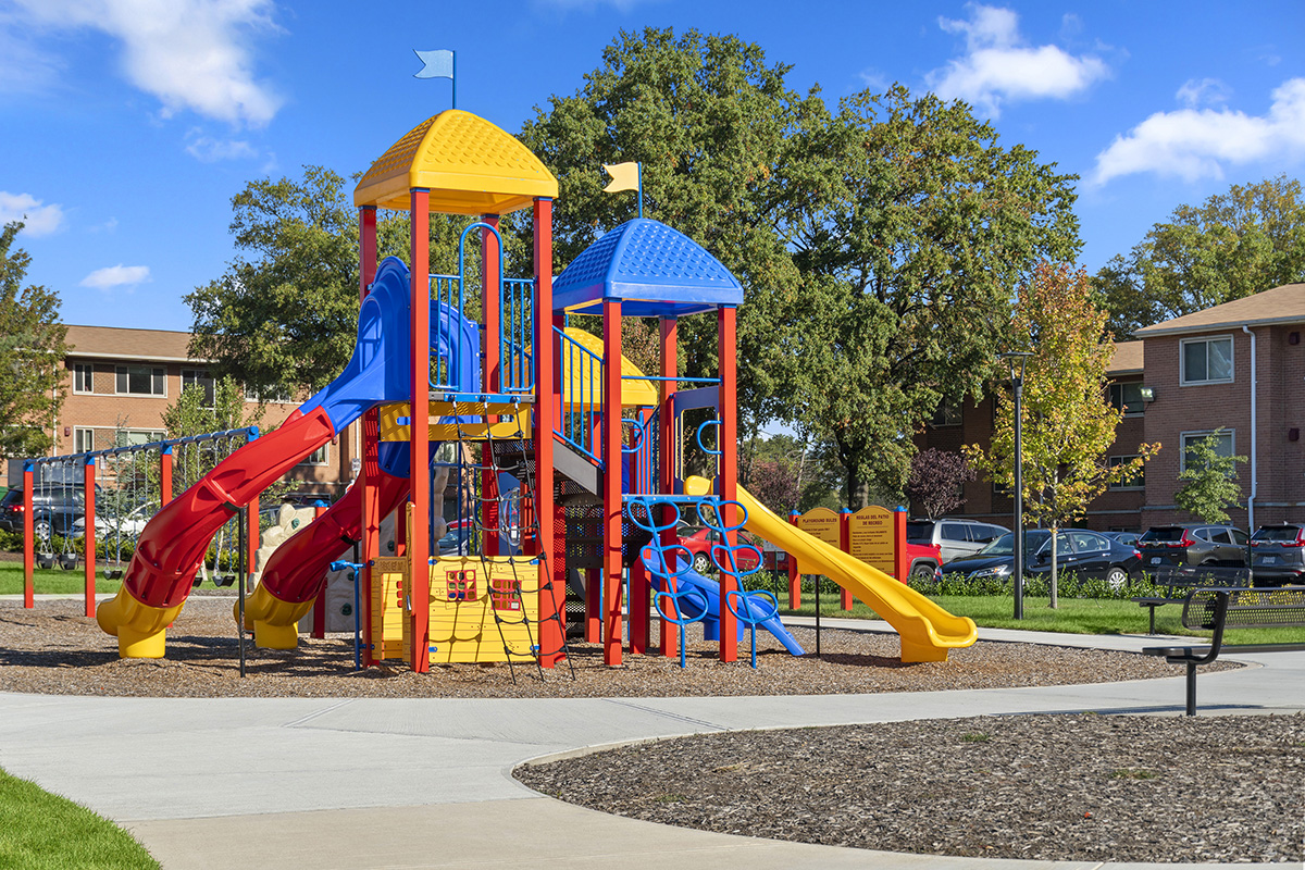 Brand new play area at Barcroft View Apartments in Falls Church, VA
