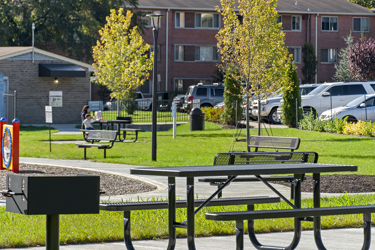 Brand new picnic areas at Barcroft View Apartments in Falls Church, VA