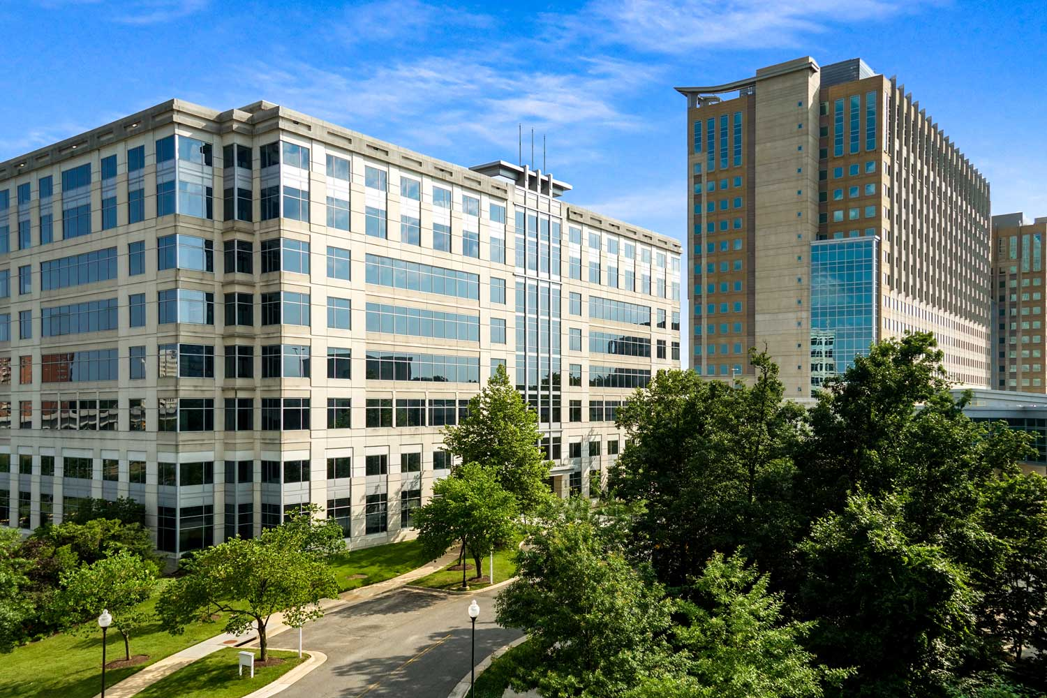 DoD Mark Center is 7 minutes from Barcroft View Apartments in Falls Church, VA