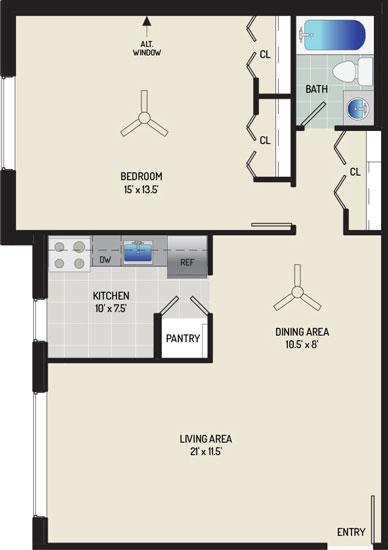 Barcroft View Apartments - Apartment 013615-303-A1