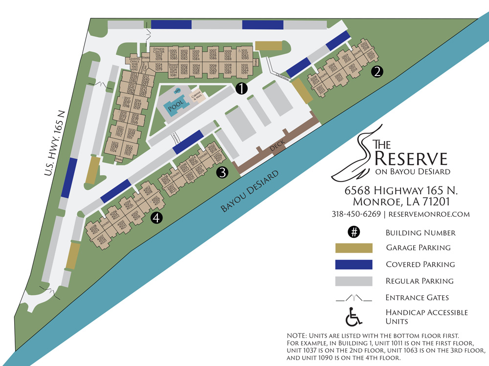 The Reserve on Bayou DeSiard Site Plan