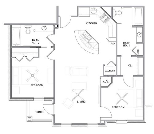 The Reserve on Bayou DeSiard - Floorplan - B3