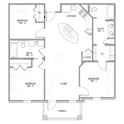 The Reserve on Bayou DeSiard - Floorplan - C1
