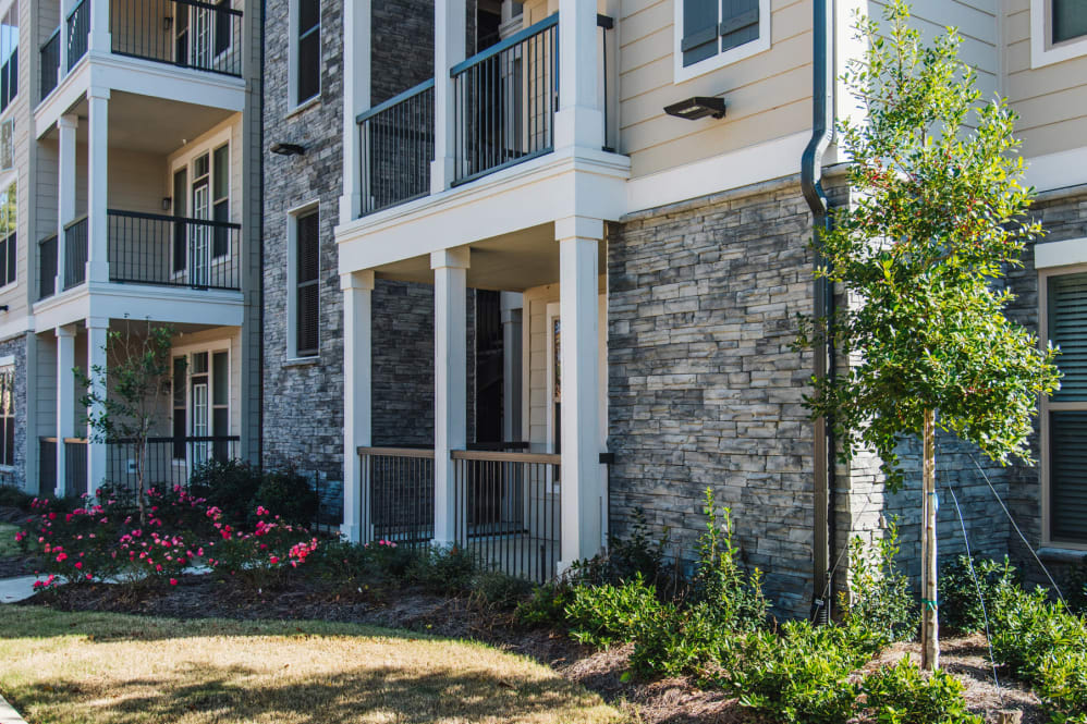 Private Patio or Balcony at The Reserve on Bayou DeSiard Apartments in Monroe, LA