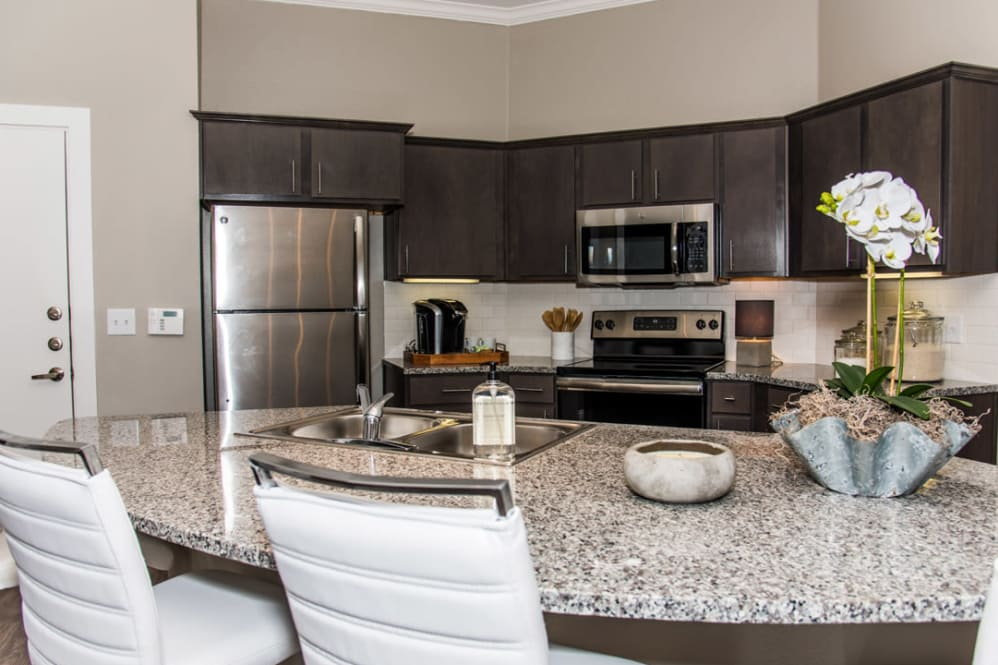 Stainless Steel Appliances at The Reserve on Bayou DeSiard Apartments in Monroe, LA