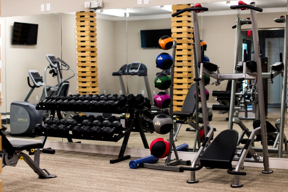 Fitness Center at The Reserve on Bayou DeSiard Apartments in Monroe, LA