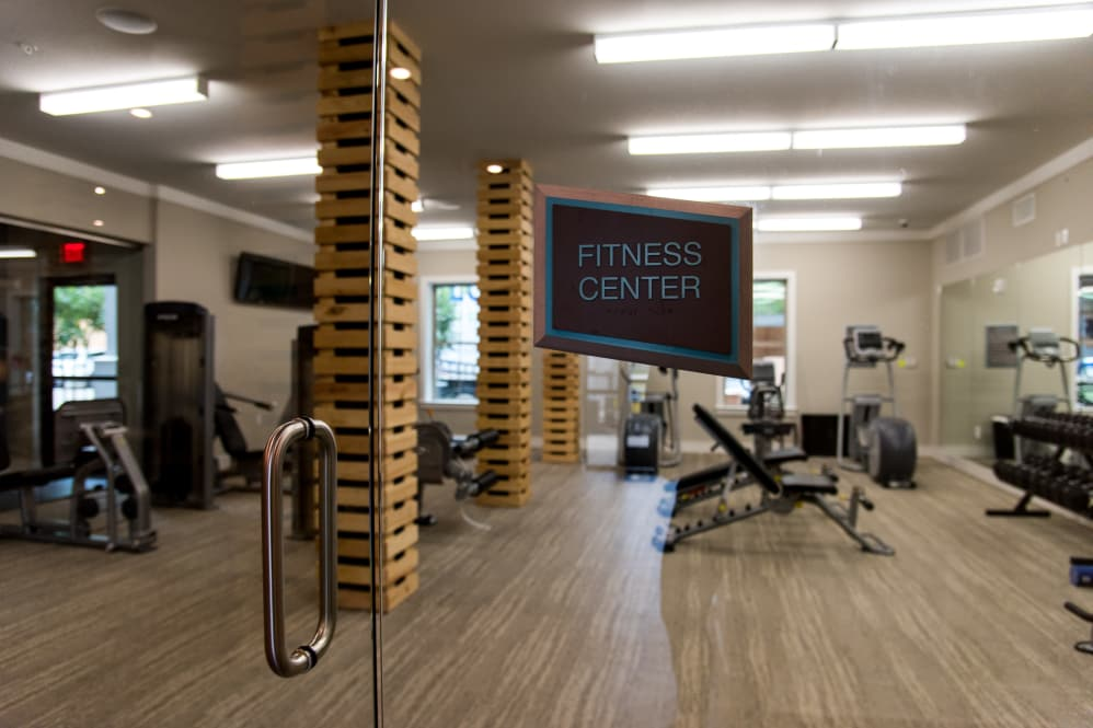 Professional Gym Equipment at The Reserve on Bayou DeSiard Apartments in Monroe, LA