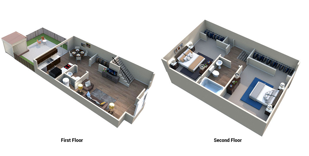 Floorplan - Two Bedroom One Bath image